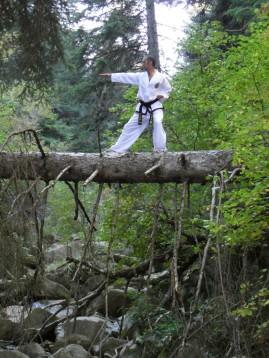Taekwon-do en los montañas