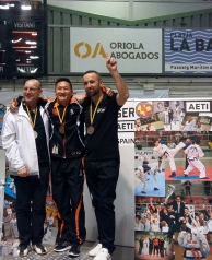 1st place - Otto van Elzelingen (ITF Royal Dutch), 2nd Place - Michael Cude ( Team UK) 3rd Place Richard Woodrow (AETO Spain)